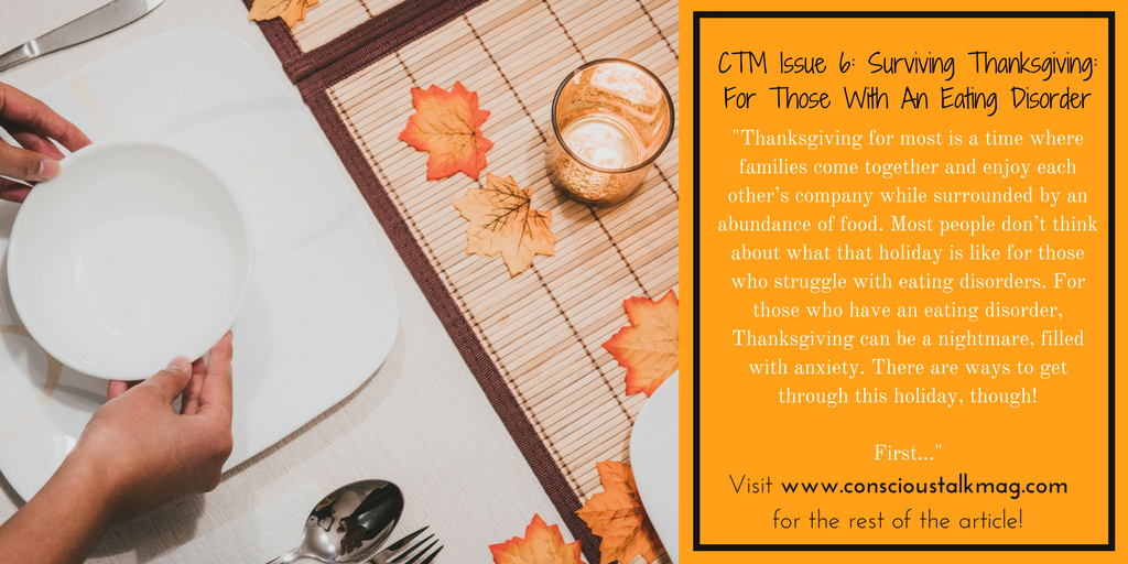 Surviving Thanksgiving: For Those With An Eating Disorder (CTM)